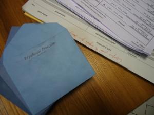 конверт и списки избирателей
