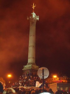 Площадь Бастилии 6 мая 2012 года